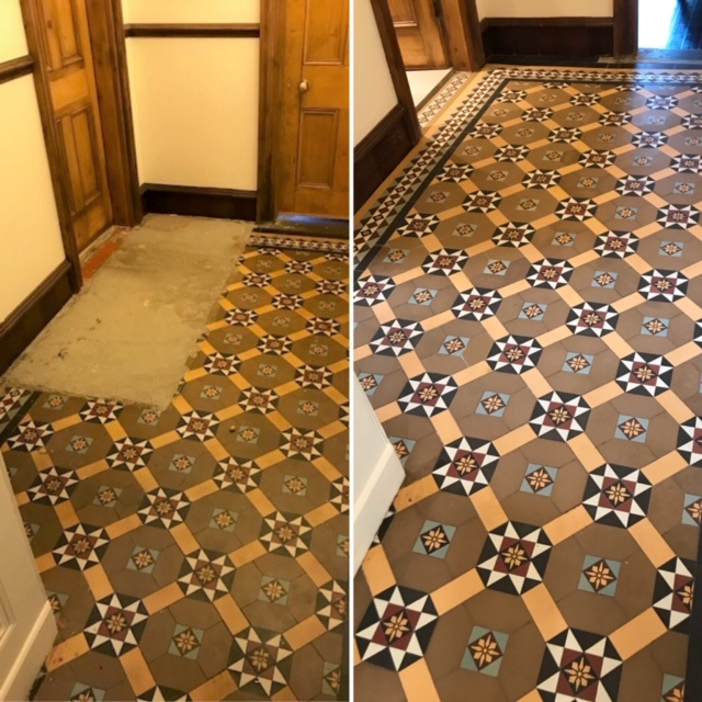 Minton Floor tile restoration