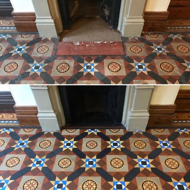 Victorian tile floor repairs